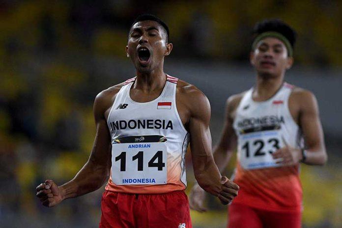 Penampilan Andrian di nomor 400 meter gawang, di ajang SEA Games 2017 Malaysia, 22 Agustus 2017.