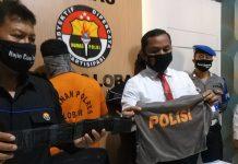 PENIPUAN : Satreskrim Polres Lobar memberikan keterangan terkait penangkapan penipuan yang dilakukan oknum pecatan polisi. (IST/RADAR LOMBOK)